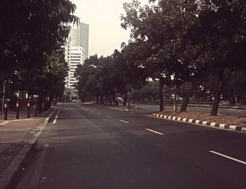Suasana Saat Jakarta Sepi