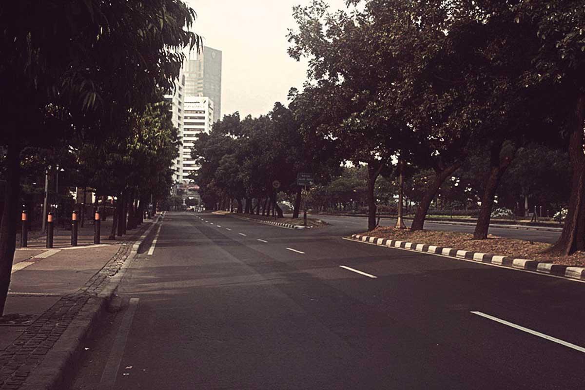 Jakarta sepi setahun sekali